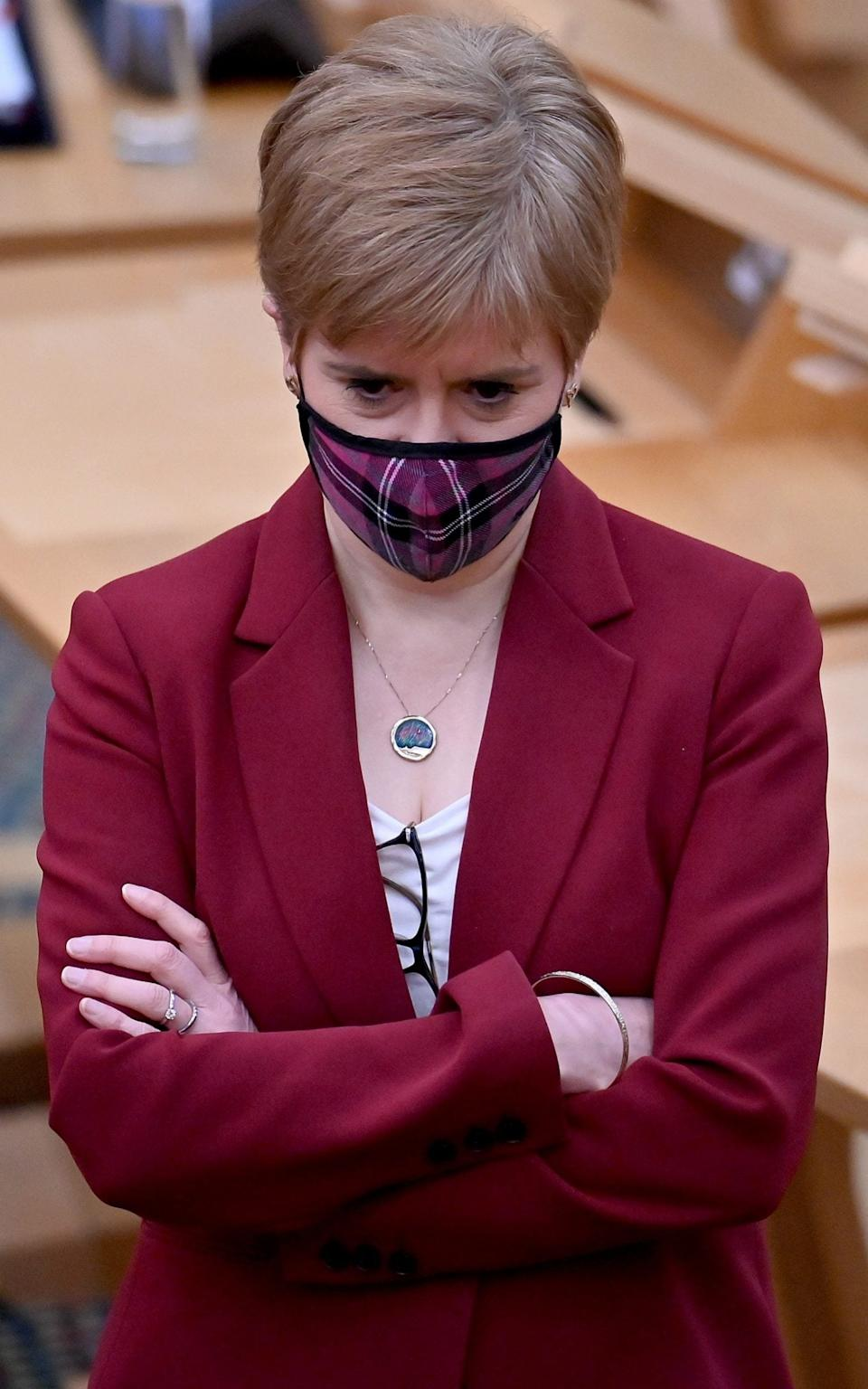 Nicola Sturgeon issued the warning to Christmas shoppers on Friday - Jeff J Mitchell/PA
