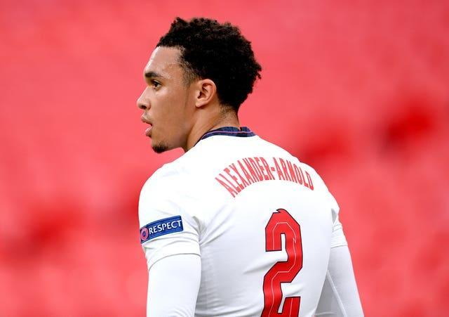 Trent Alexander-Arnold wears the England number two shirt