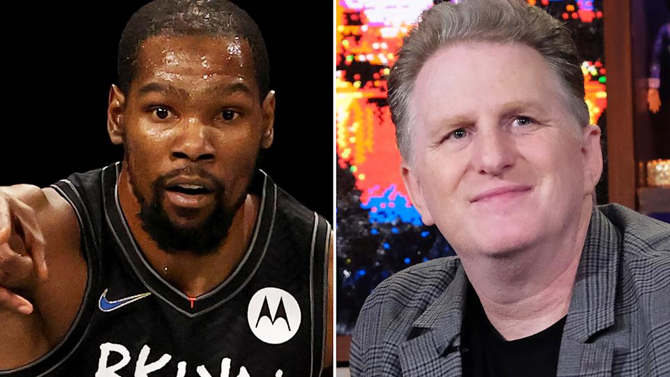 NBA star Kevin Durant has apologised after a series of abusive messages he exchanged with actor Michael Rapaport were shared on Twitter. Pictures: Getty Images