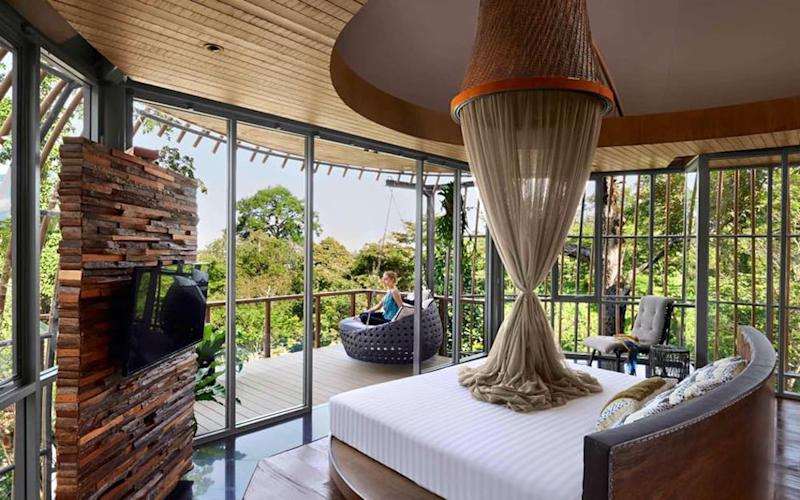 Keemala, in Phuket, is pure fantasy: a retreat draped on a pretty hillside above Kamala beach where palm-fringed paths lead to dangling tree houses, a sensational spa and a chic rooftop restaurant.