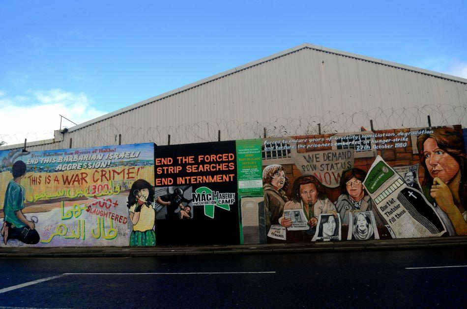 Most tourists flock to the International Wall in Belfast to see the colourful murals painted on them.