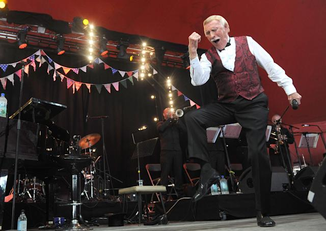 <p>Sir Bruce performing on the Avalon stage at Glastonbury 2013. (PA) </p>