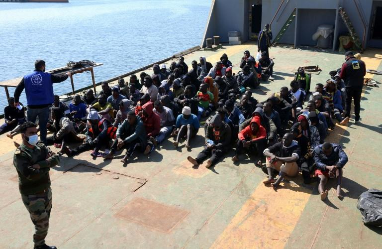 Libya is a favoured departure point for migrants from sub-Saharan Africa risking the perilous sea crossing to Europe and many are held in overcrowded detention centres after being intercepted on the high seas (AFP/Mahmud TURKIA)