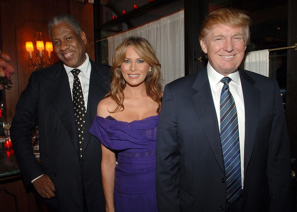 André Leon Talley, Melania Trump, and Donald Trump at an event in New York City in June 2005 (Photo: Stephen Lovekin/WireImage)