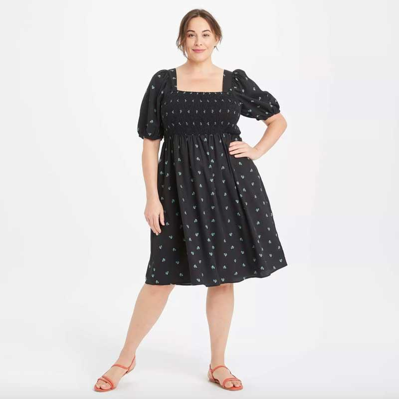 """Target lovers, rejoice! You can find tons of plus-size options in the majority of your favorite pieces. Available both in the store and online, you'll be able to find your new favorite picks for ~all~ occasions. Warning: You can <em>never</em> just buy one thing in Target — the cart somehow always ends up filled to the brim — so beware. $30, Target. <a href=""""https://www.target.com/p/women-s-plus-size-high-rise-puff-short-sleeve-smocked-dress-ava-viv/-/A-82683563?preselect=82572930#lnk=sametab"""" rel=""""nofollow noopener"""" target=""""_blank"""" data-ylk=""""slk:Get it now!"""" class=""""link rapid-noclick-resp"""">Get it now!</a>"""
