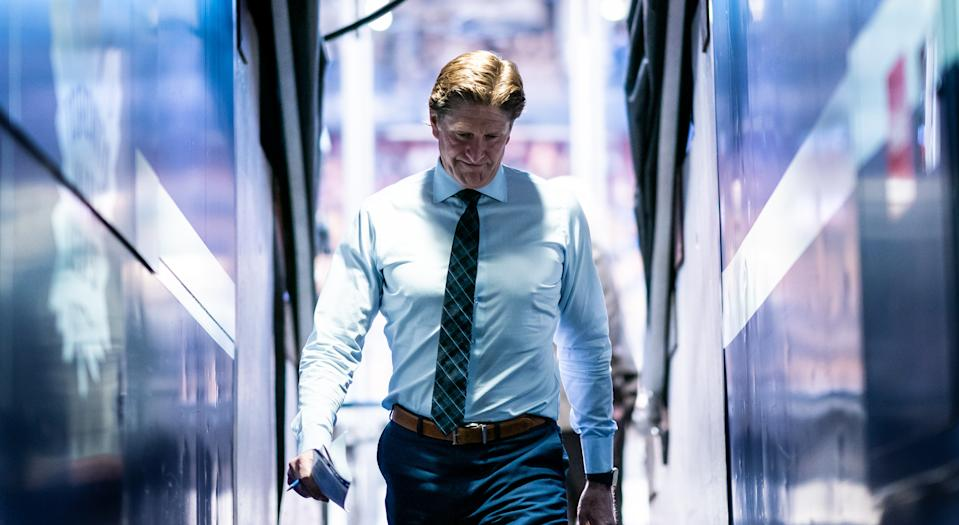 Mike Babcock has been fired by the Toronto Maple Leafs. (Photo by Kevin Sousa/NHLI via Getty Images)