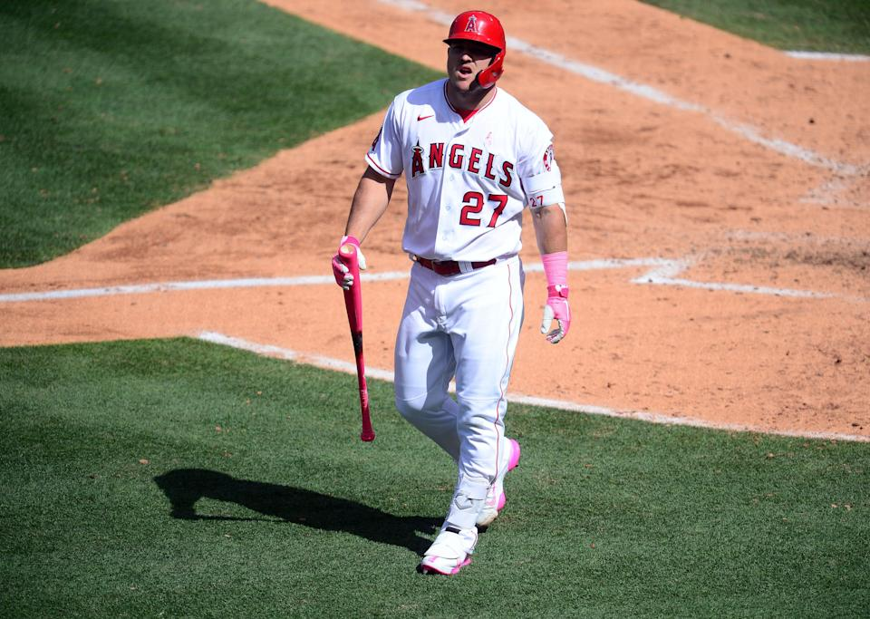 Mike Trout didn't play after May 17 due to injury.