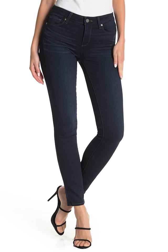 """<p>These <a href=""""https://www.popsugar.com/buy/Paige-Verdugo-Ultra-Skinny-Jeans-512481?p_name=Paige%20Verdugo%20Ultra%20Skinny%20Jeans&retailer=nordstromrack.com&pid=512481&price=80&evar1=fab%3Aus&evar9=46859092&evar98=https%3A%2F%2Fwww.popsugar.com%2Ffashion%2Fphoto-gallery%2F46859092%2Fimage%2F46859097%2FPaige-Verdugo-Ultra-Skinny-Jeans&list1=shopping%2Cnordstrom%2Cjeans%2Csale%2Cproducts%20under%20%24100%2Csale%20shopping%2Cnordstrom%20rack&prop13=mobile&pdata=1"""" rel=""""nofollow"""" data-shoppable-link=""""1"""" target=""""_blank"""" class=""""ga-track"""" data-ga-category=""""Related"""" data-ga-label=""""https://www.nordstromrack.com/shop/product/2973701/paige-verdugo-ultra-skinny-jeans?color=KAIYA"""" data-ga-action=""""In-Line Links"""">Paige Verdugo Ultra Skinny Jeans</a> ($80, originally $179) are a timeless staple.</p>"""