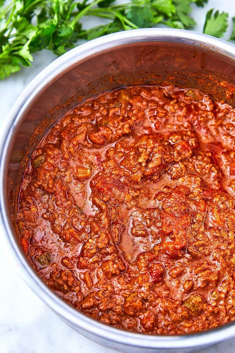 """<p>Bolognese is so much more than just a meat sauce. It's the ultimate way to transform a package of minced beef into something show-stopping. When the temperature starts to drop, what sounds better than pasta smothered in rich, hearty, umami-bomb bolognese? NOTHING.</p><p>Get the <a href=""""https://www.delish.com/uk/cooking/recipes/a29755014/bolognese-sauce-recipe/"""" rel=""""nofollow noopener"""" target=""""_blank"""" data-ylk=""""slk:Bolognese Sauce"""" class=""""link rapid-noclick-resp"""">Bolognese Sauce</a> recipe.</p>"""