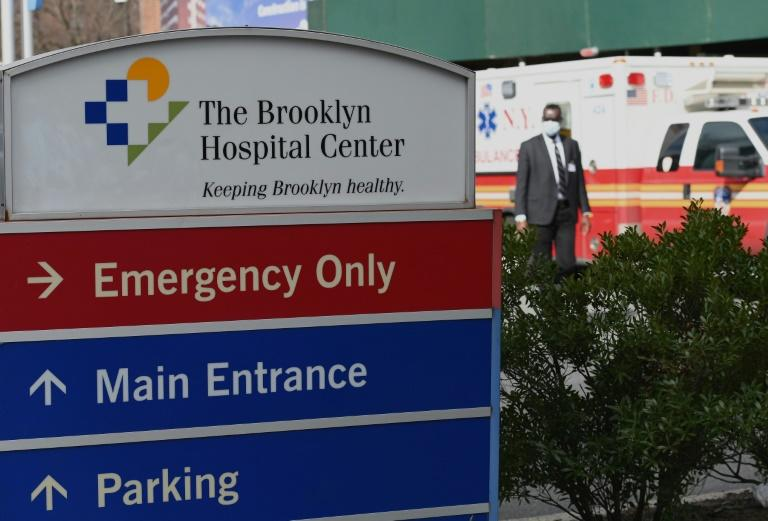 There are only one million hospital beds in the US, or 2.8 beds per 1,000 inhabitants -- far too few in the case of an acute coronavirus crisis (AFP Photo/Angela Weiss)