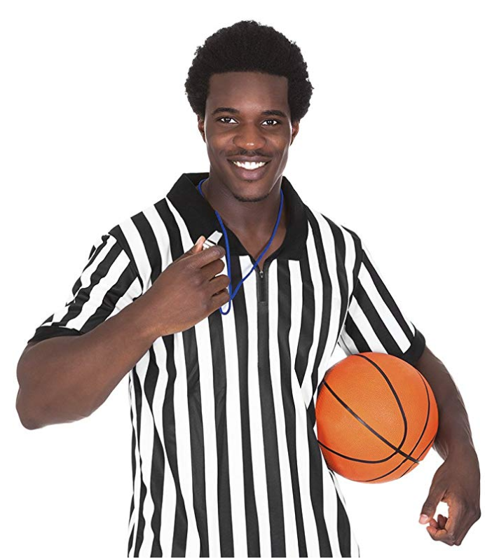 Official Black & White Stripe Referee Shirt