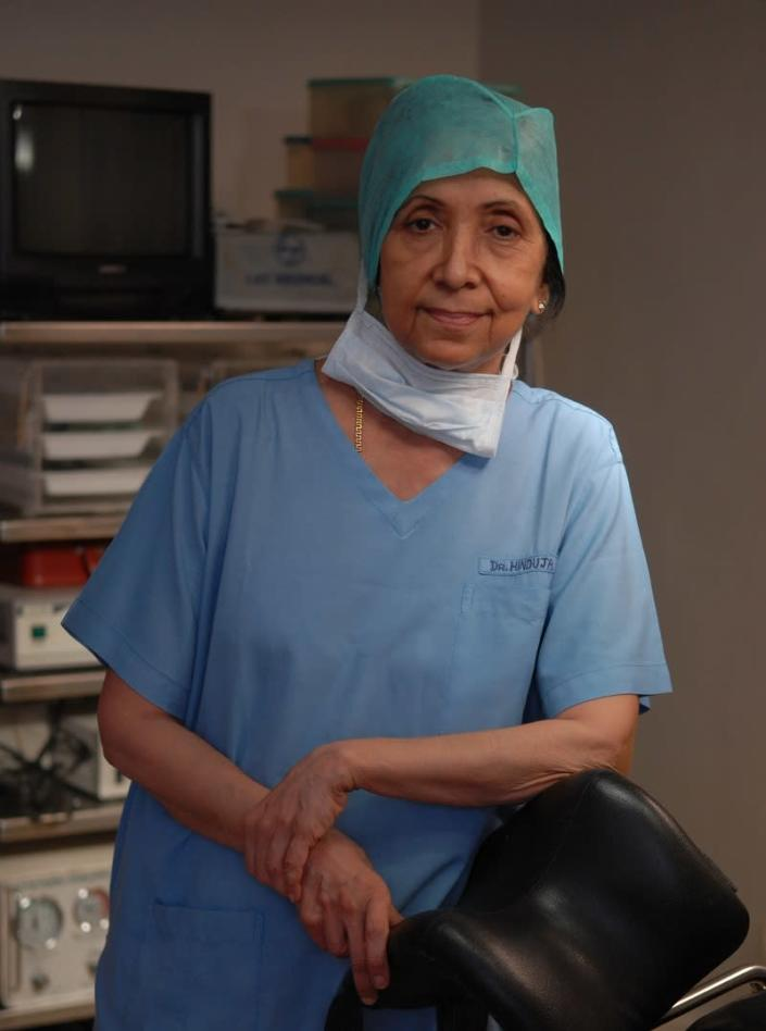 Dr Indira Hinduja (Photo by Mandar Deodhar/The India Today Group via Getty Images)