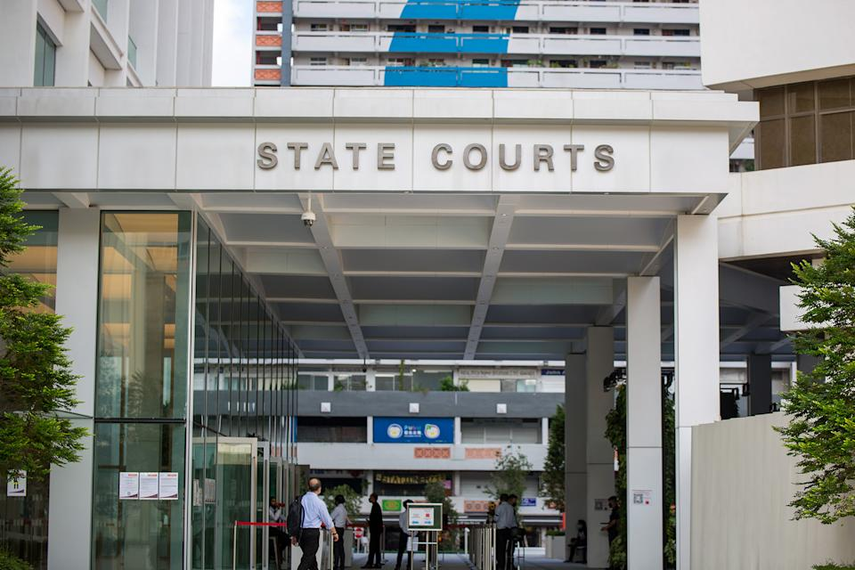 Singapore's State Courts seen on 21 April 2020. (PHOTO: Dhany Osman / Yahoo News Singapore)