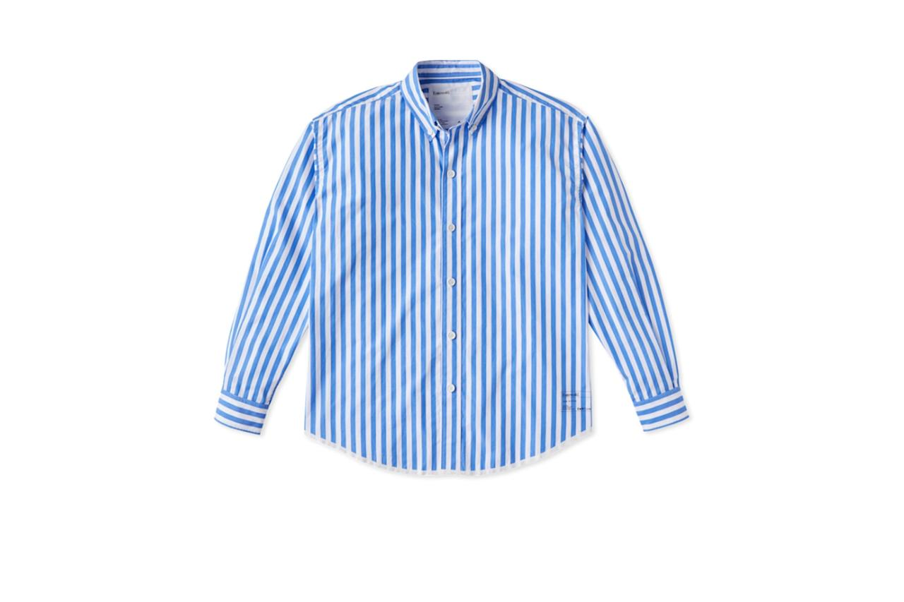 "$125, Entireworld. <a href=""https://theentireworld.com/men/product/shirt-mens-type-a-version-10-blue-white"">Get it now!</a>"