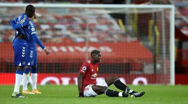 Paul Pogba got injured against Everton earlier in the month