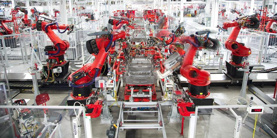 tesla model 3 assembly time lapse video factory timelapse feature