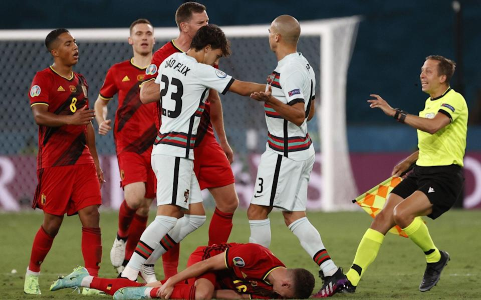 Row after Pepe foul - SHUTTERSTOCK