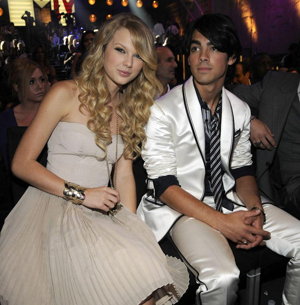 """<p>Although they were only together for a few months (July 2008 - October 2008), their brief relationship still managed to spark a few song ideas for Taylor, including Forever and Always – which features the lyrics """"Once upon a time, I believe it was a Tuesday when I caught your eye and we caught onto something"""" and """"Were you just kidding? Cause it seems to me, this thing is breaking down"""".<br><br>While it's rumoured that Jonas broke up with Swift via a speedy 27 second phone call, causing one hell of a rift, the pair now appear to be back on good terms. It's alleged that Taylor references him (and wife Sophie Turner) more recently in another song too, in the lyrics for Invisible String (part of her 2020 album, Folklore): """"Cold was the steel of my axe to grind, for the boys who broke my heart... Now I send their babies presents.""""</p>"""