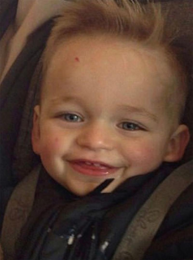 Toddler car seat death: Three-year-old Alfie Lamb (pictured) was in the rear footwell of an Audi car when he was squashed by a car seat.