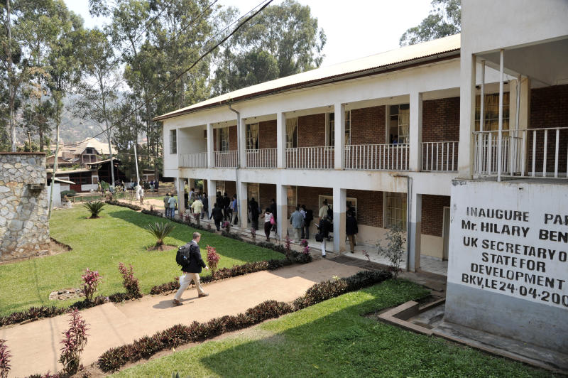 The Panzi Hospital in Bukavu, Democratic Republic of Congo, pictured on July 5, 2014, during a visit by a US delegation