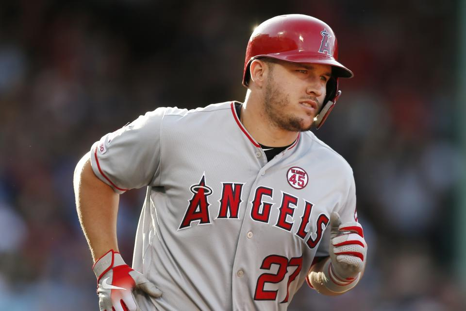 MLB and MLBA say no MLB player, including Mike Trout, has been granted a TUE for HGH. (AP Photo/Michael Dwyer)