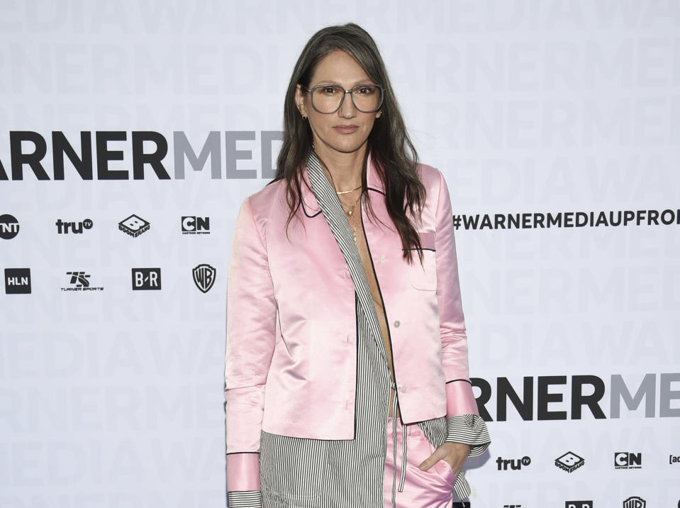 """FILE - Jenna Lyons attends the WarnerMedia Upfront at Madison Square Garden in New York on May 15, 2019. The former J. Crew President and Creative Director has pivoted, and is now building her own brand on reality TV. Her new HBO Max show, """"Stylish with Jenna Lyons,"""" which brings her design acumen to home, fashion and beauty projects, launches this week. (Photo by Evan Agostini/Invision/AP)"""