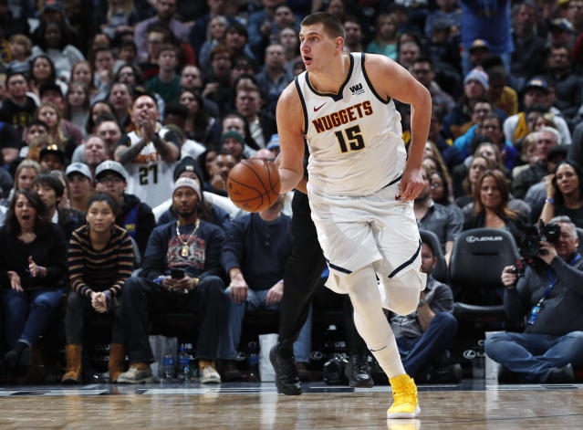 Nikola Jokic is averaging 18 points, 9.9 rebounds and 7.6 assists per game. (AP)