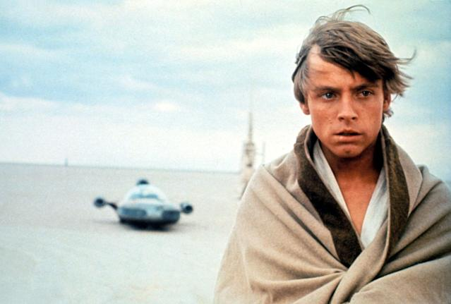 Luke Skywalker on Tatooine in the original 1977 <em>Star Wars, A New Hope.</em> (Photo: Lucasfilm)