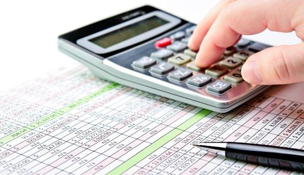 close up of a spreadsheet with...