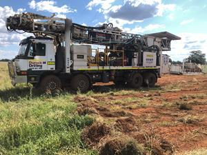Drill rig on-site at Sunrise Project
