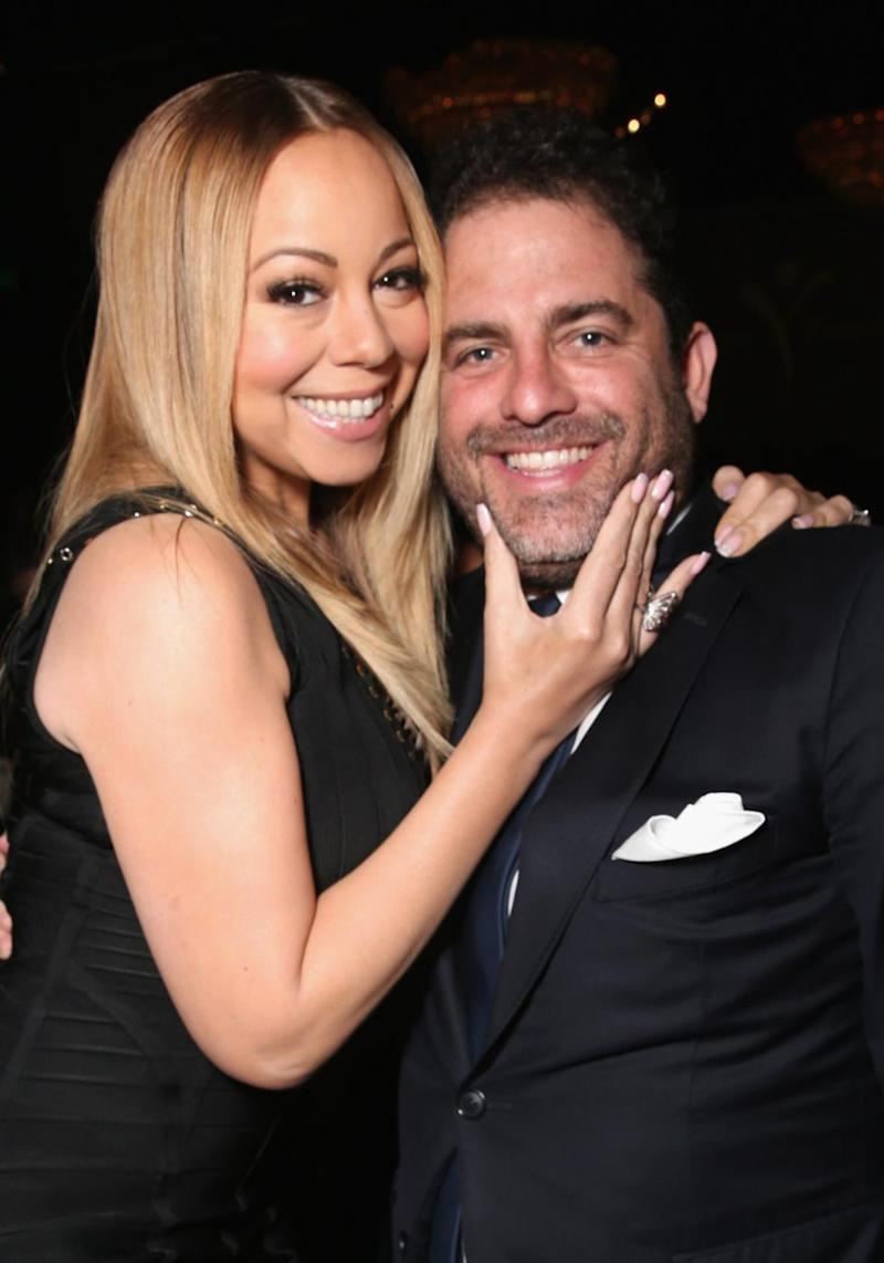 The Hollywood producer is seen here with Mariah Carey at an event last year. Source: Getty