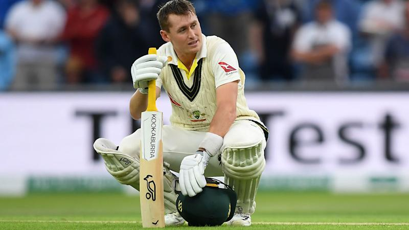 Marnus Labuschagne, pictured here looking gutted after his dismissal. (Photo by Alex Davidson/Getty Images)