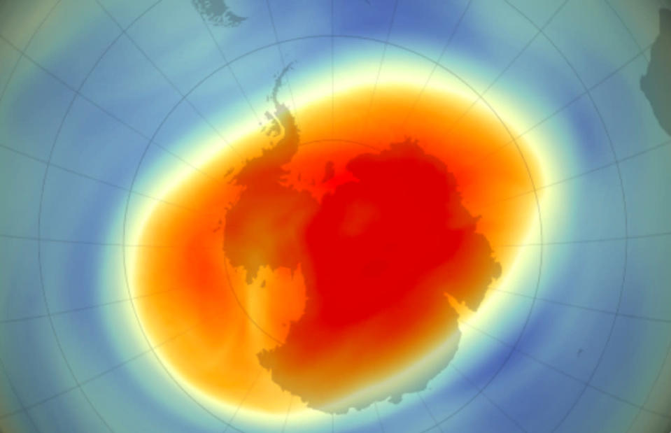 2020's hole in the ozone layer closed after reaching a record size