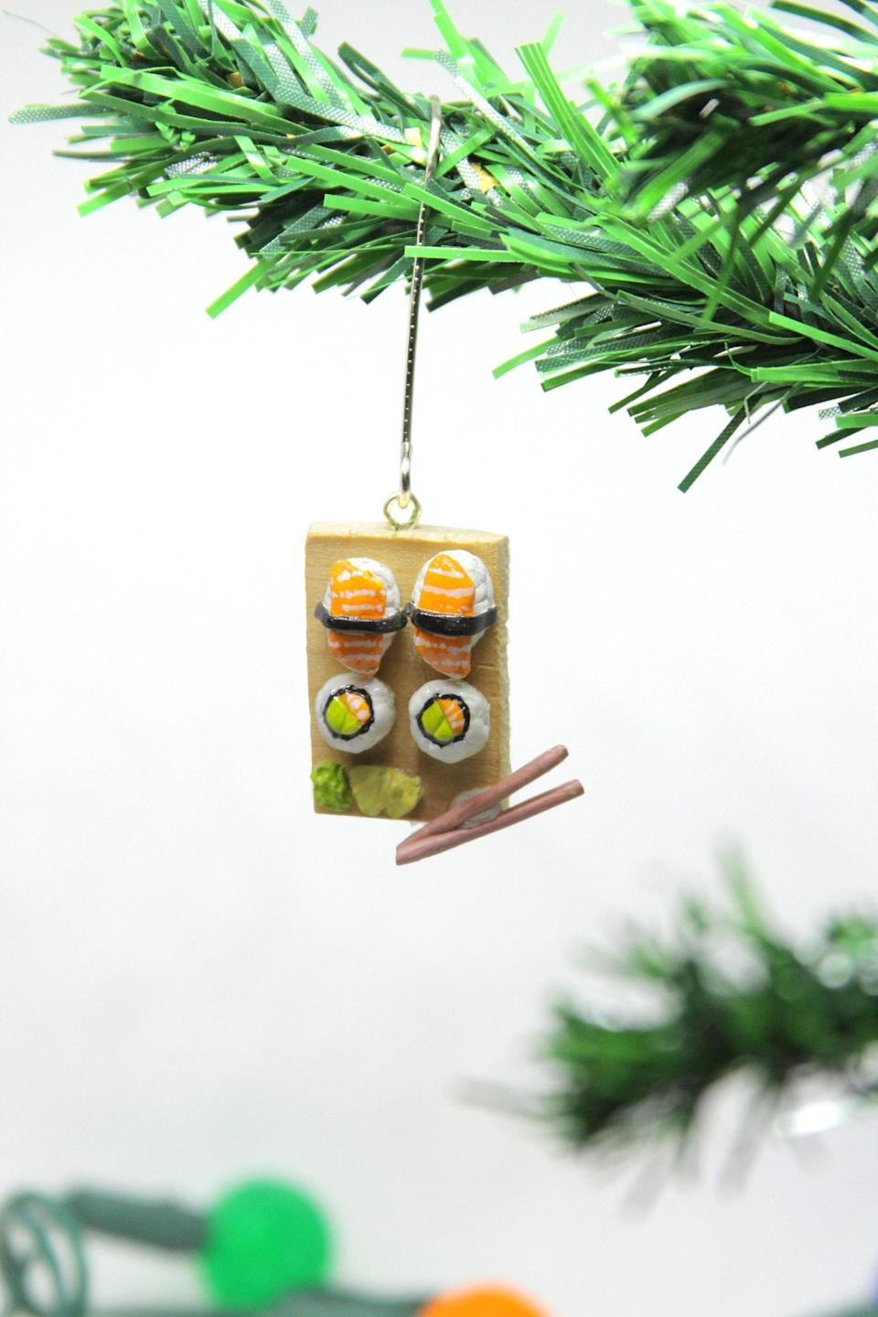 <p>This <span>Sushi Ornament</span> ($15) is so intricate and cute.</p>