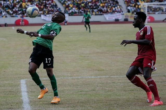 Rainford Kalaba (L) has scored six goals this season in the CAF Confederation Cup and is a potential match-winner when Mazembe confront Etoile Sahel