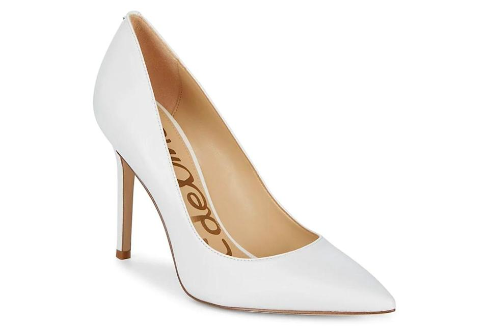 white pumps, heels, sam edelman