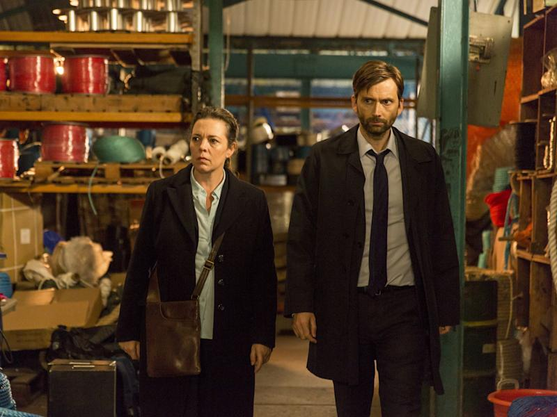 DS Miller (Olivia Colman) and DI Hardy (David Tennant) were attempting to close in on the attacker: BBC
