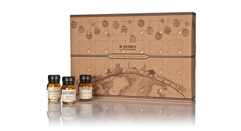 """<p>Try out whisky from all over the world with this calendar. Each day, you'll be treated to a 30ml dram of worldly whiskies, from Italy to Ireland, Australia to India and beyond. Available from <a rel=""""nofollow noopener"""" href=""""https://www.masterofmalt.com/whiskies/drinks-by-the-dram/world-whisky-advent-calendar/?srh=1"""" target=""""_blank"""" data-ylk=""""slk:Master of Malt"""" class=""""link rapid-noclick-resp""""><em>Master of Malt</em></a>. </p>"""
