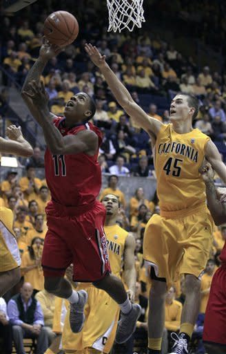 Arizona knocks Cal out of first place in Pac-12