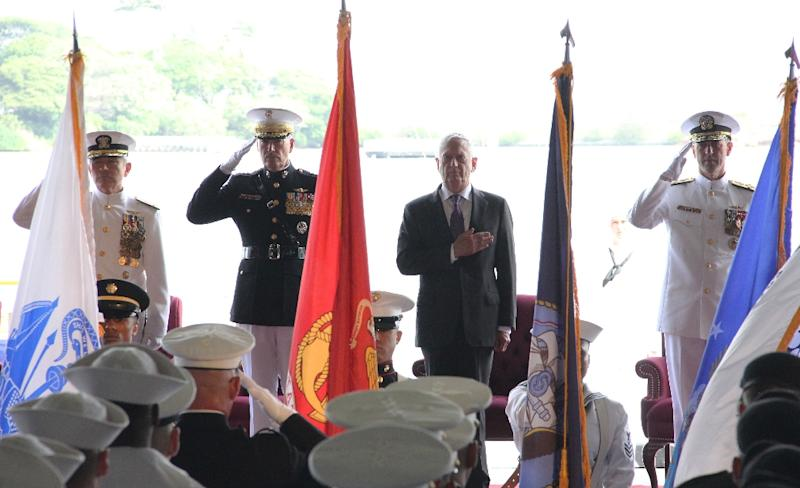 China rejected comments by US Navy Admiral Harry Harris (L) that Beijing seeks hegemony in Asia