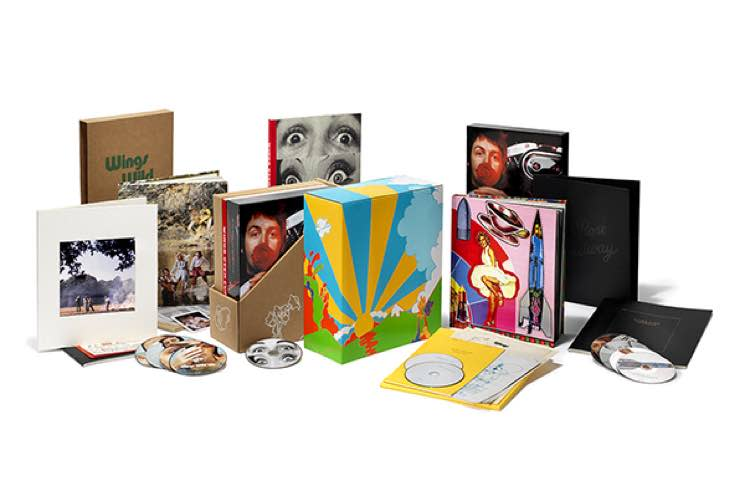 <p>The first two albums by Macca's post-Beatles '70s supergroup are reissued for you to have a wonderful Christmastime shopping spree. The Wild Life package includes a remastered version of the album, two CDs worth of outtakes and early mixes, a DVD featuring footage of demos and rehearsals, a 128-page book about the album by David Fricke, and a 48-page scrapbook. The deluxe Red Rose Speedway comes with three CDs of remasters, alternative mixes, and rare tracks, two DVDs and a Blu-Ray worth of archival footage. </p>