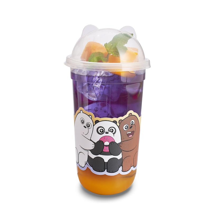 Sunny Bear Bros iced Mango Butterfly Pea Tea. (PHOTO: Kumoya)