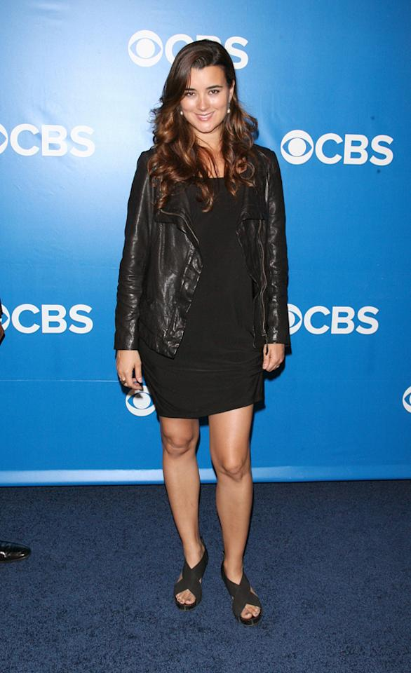 "Cote de Pablo (""NCIS"") attends CBS's 2012 Upfront Presentation on May 16, 2012 in New York City."