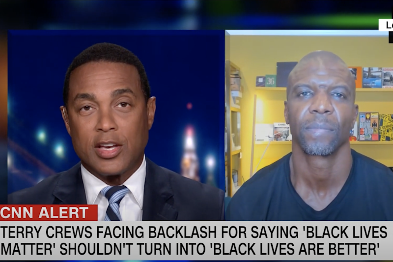 Don Lemon and Terry Crews discussed the Black Lives Matter during a recent segment on Lemon's CNN show: YouTube / CNN