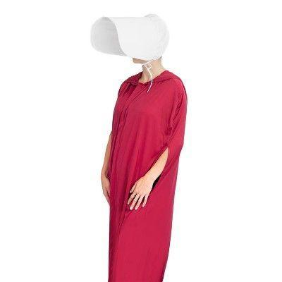 """<p><strong>HMS</strong></p><p>target.com</p><p><strong>$29.99</strong></p><p><a href=""""https://www.target.com/p/hms-the-handmaid-s-tale-authentic-robe-hat-costume-perfect-outfit-for-cosplay/-/A-78614750"""" rel=""""nofollow noopener"""" target=""""_blank"""" data-ylk=""""slk:Shop Now"""" class=""""link rapid-noclick-resp"""">Shop Now</a></p><p>Just the kind of dark costume 2020 merits. </p>"""