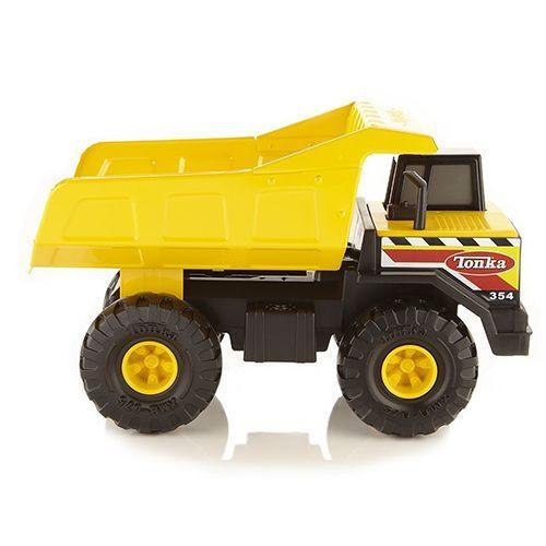 """<p><strong><em>Tonka Classic Mighty Dump Truck</em></strong><strong><em>, $25</em></strong> <a class=""""link rapid-noclick-resp"""" href=""""https://www.amazon.com/Tonka-Classic-Steel-Mighty-Vehicle/dp/B000PEHDFG/?tag=syn-yahoo-20&ascsubtag=%5Bartid%7C10050.g.35033504%5Bsrc%7Cyahoo-us"""" rel=""""nofollow noopener"""" target=""""_blank"""" data-ylk=""""slk:BUY NOW"""">BUY NOW</a></p><p>Toy cars have always been popular amongst kids. Tonka revolutionized the world of toy vehicles by including everything from sleek pickup trucks to clunky dump trucks, cement trucks, and other utility vehicles.</p>"""