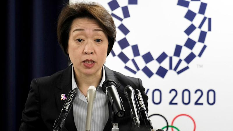 Pictured here, Japan's Olympics minister Seiko Hashimoto addresses media.
