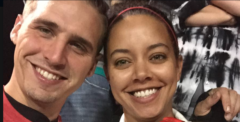 Hagen Mills and Erica Price at a ball game