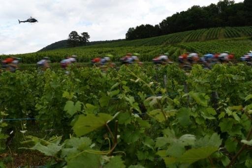 The Tour de France passing near Macon in 2019