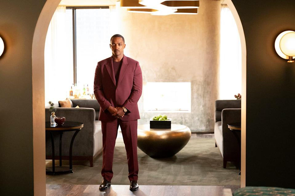 """Anthony Mackie's next TV project is starring in the Amazon sci-fi anthology series """"Solo"""" with Helen Mirren, Anne Hathaway and Morgan Freeman."""
